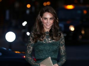 LONDON, ENGLAND - MARCH 28: Catherine, Duchess of Cambridge arrives to attend the 2017 Portrait Gala at the National Portrait Gallery on March 28, 2017 in London, Britain.
