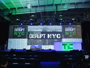 The Disrupt stage.