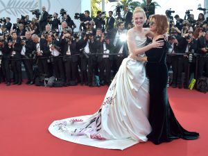Elle Fanning and Susan Sarandon having a moment.