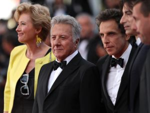 Emma Thompson, Dustin Hoffman, Ben Stiller, director Noah Baumbach and Adam Sandler attend The Meyerowitz Stories' screening during the 70th annual Cannes Film Festival.
