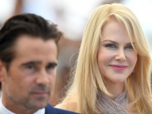 Collin Farrell and Nicole Kidman attend The Beguiled photocall during the 70th annual Cannes Film Festival at Palais des Festivals.