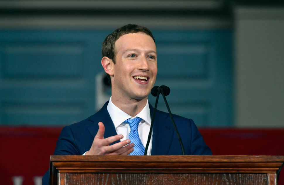Someone Trolled Mark Zuckerberg's Harvard Speech With a Hack and a Bunch of Fake News