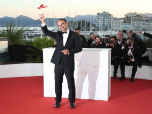 "Andrey Zvyagintsev, who won the Prix Du Jury for the movie Loveless"" (Nelyubov), attends the Palme D'Or winner photocall during the 70th annual Cannes Film Festival."