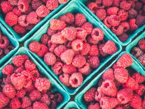 Raspberries have an impressive eight grams of fiber in one cup.