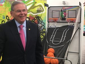 Menendez visits Empower U's Youth Empowerment Suite at Kearny Point.