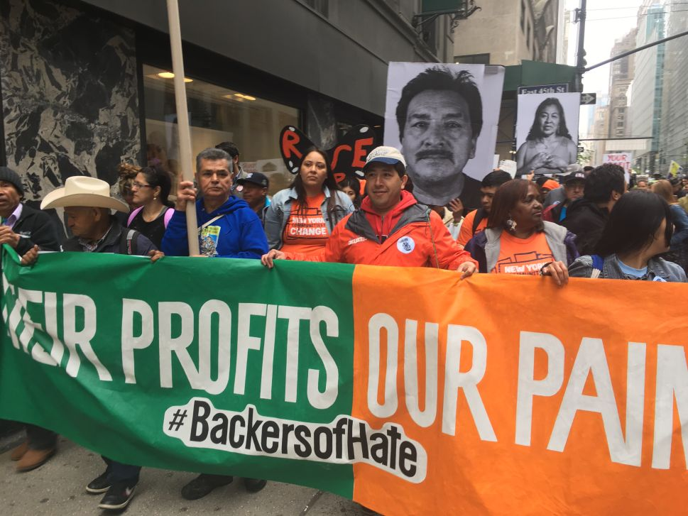 NYPD Collars May Day Protestors Demonstrating Against Trump's 'Greedy Corporate' Backers