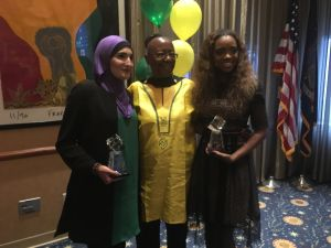 Bertha Lewis of the Black Institute with Women's March organizers Linda Sarsour and Bertha Lewis.