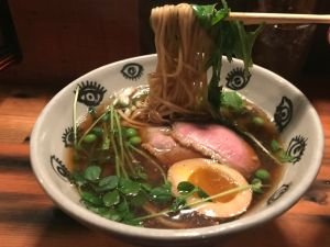 Ramen Shop makes shoyu with smoked duck breast.