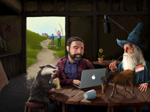 Fan art for the podcast Hello From the Magic Tavern.