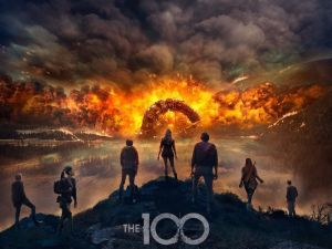 The 100 Season 4 poster art.