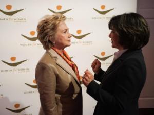 Hillary Clinton and Christiane Amanpour.