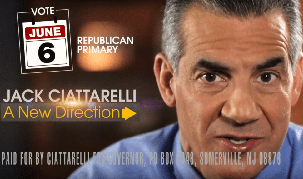 NJ Gov Race: Ciattarelli Debuts TV Ad