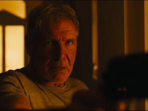Harrison Ford as Rick Deckard.