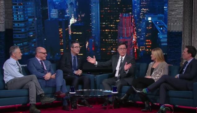The Late Show with all of the Daily Show correspondents