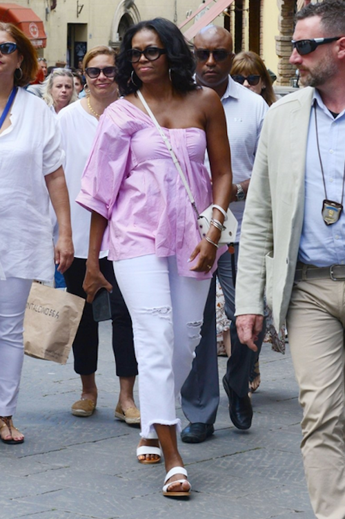 Where to Buy a Vacation Blouse Like Michelle Obama