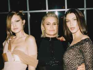 Yolanda Hadid lives near her daughters now.