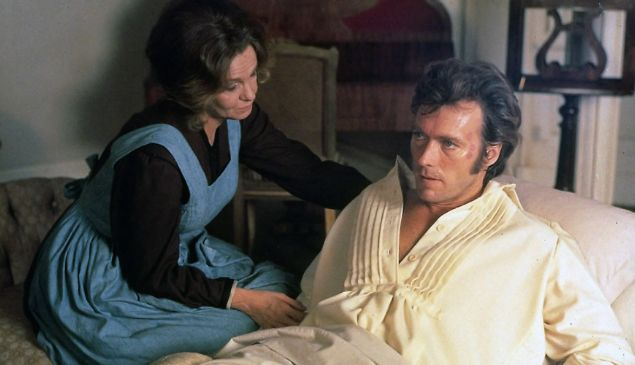 Geraldine Page and Clint Eastwood in The Beguiled.
