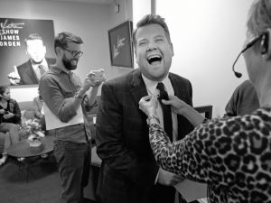 James Corden backstage during The Late Late Show.