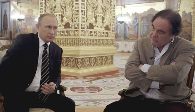 Putin and Stone: an unstoppable force meets the guy who directed Natural Born Killers.
