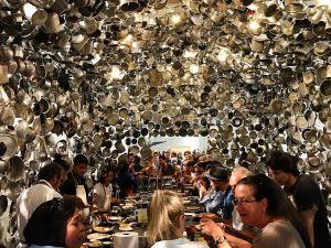 Subodh Gupta's Cooking the World at Art Basel Unlimited 2017.