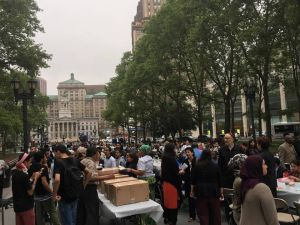 "The city's second annual ""Iftar in the City"" in Columbus Park near Brooklyn Borough Hall."