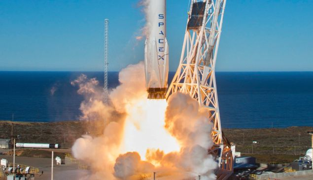 The first launch of the BulgariaSat-1 flight-proven booster.