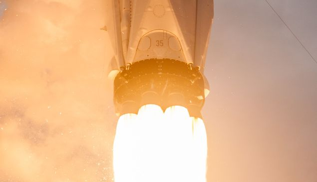 A SpaceX Falcon 9 booster.