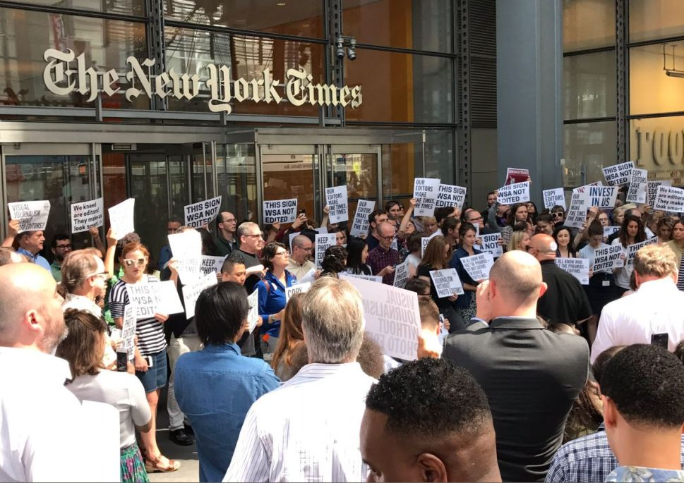 NY Times Employees Walk Out in Protest of Copy Team Cuts
