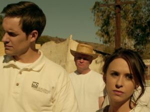 Lacey Chabert and Jonathan Patrick Moore in Christian Mingle.