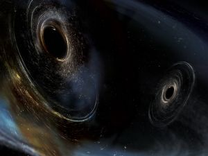 Dancing duo of black holes.