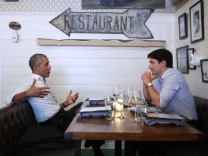 Justin Trudeau and Barack Obama had a dinner date in Montreal.