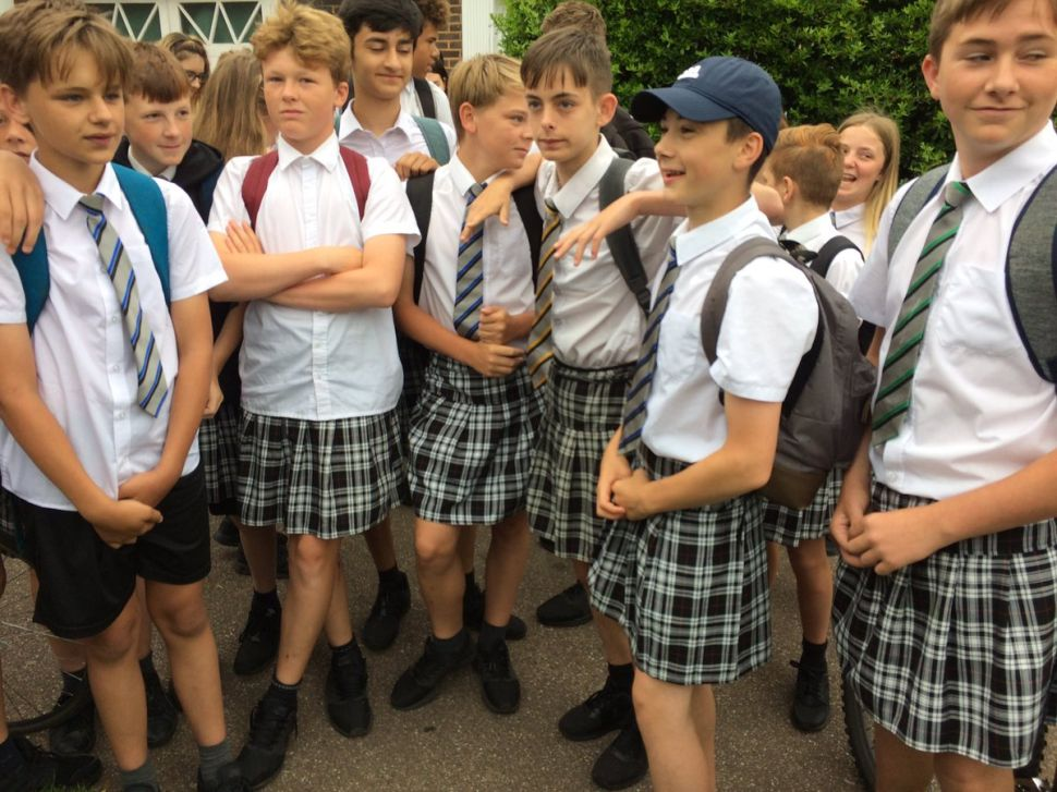 The Internet Can't Get Over These Boys Wearing Skirts During the European Heat Wave