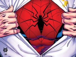 The cover for The Spectacular Spider-Man, issue #1, written by Chip Zdarsky with art by Adam Kubert.