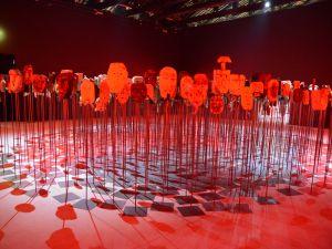 Installation view of Werken by Bernardo Oyarz'n 57th Venice Biennale.