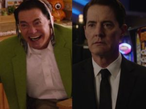 Kyle Maclachlan as Dougie Jones and Agent Dale Cooper in Twin Peaks.