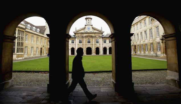 A study on campus at Cambridge University.