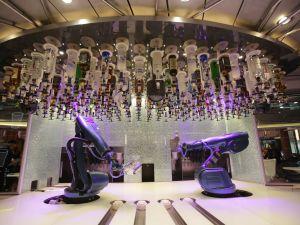 Makr Shakr's robotic bartenders aboard the Royal Caribbean Quantum of the Seas