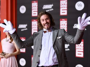 "Actor T.J. Miller attends the premiere of Disney's ""Big Hero 6"" at the El Capitan Theatre on November 4, 2014 in Hollywood, California."