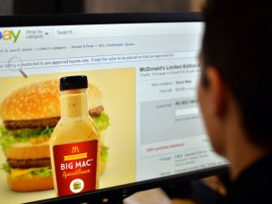Big Mac Sauce being sold by the bottle.