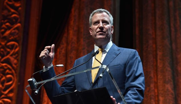Mayor of New York City Bill de Blasio.