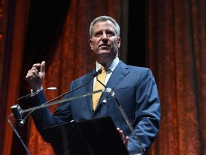 Mayor of New York City Bill de Blasio.
