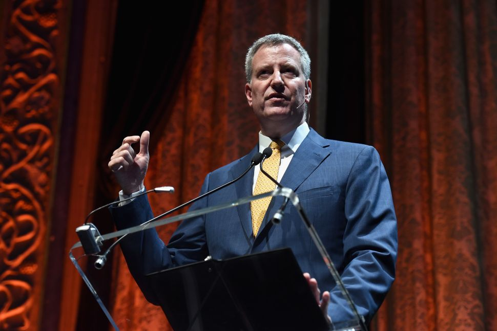 De Blasio Says His Left-Wing Critics Are 'Not Being Intellectually Honest'