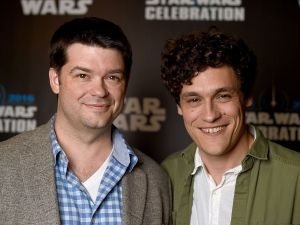 Chris Miller (L) and Phil Lord attend the Star Wars Celebration 2016 at ExCel on July 17, 2016 in London, England.