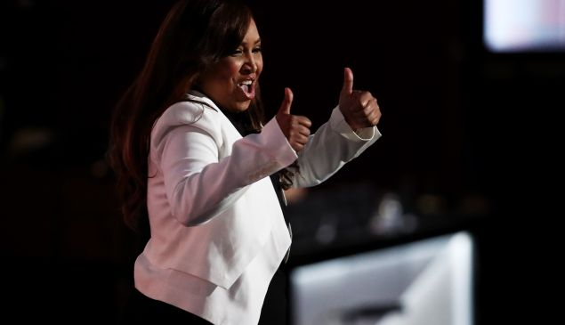 Lynne Patton addresses the 2016 Republican National Convention.