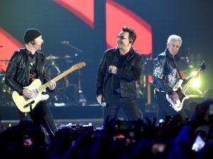 U2 performs.