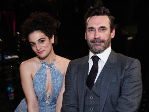 SANTA MONICA, CA - FEBRUARY 25: Actors Jenny Slate and Jon Hamm attends the 2017 Film Independent Spirit Awards at the Santa Monica Pier on February 25, 2017 in Santa Monica, California.