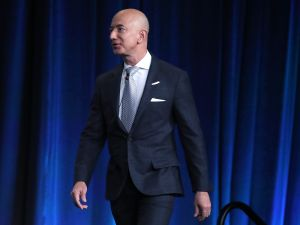 Jeff Bezos, CEO of Amazon and founder of Blue Origin.