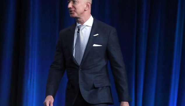 Jeff Bezos, CEO of Amazon and founder of Blue Origin.