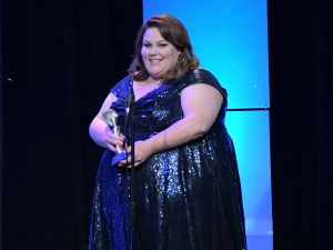 BEVERLY HILLS, CA - JUNE 06: Actor Chrissy Metz speaks onstage during the 42nd Annual Gracie Awards, hosted by The Alliance for Women in Media at the Beverly Wilshire Hotel on June 6, 2017 in Beverly Hills, California.