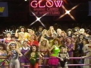 A still from the documentary GLOW: The Story of the Gorgeous Ladies of Wrestling.